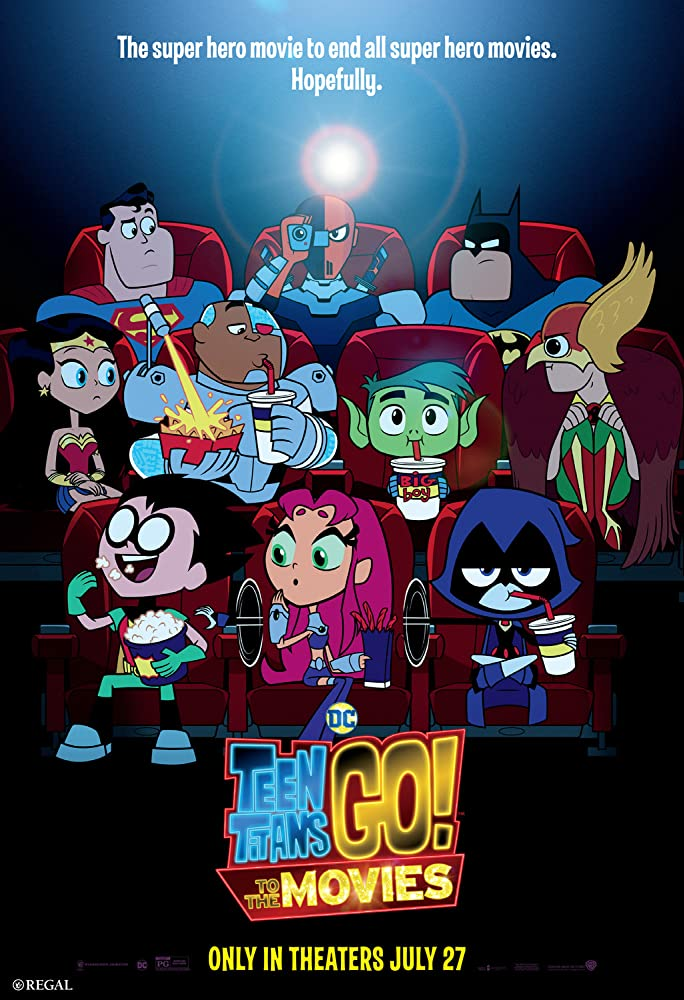 Nicolas Cage, Will Arnett, Tara Strong, Jimmy Kimmel, Scott Menville, Hynden Walch, Greg Cipes, Khary Payton, and Halsey in Teen Titans Go! To the Movies (2018)