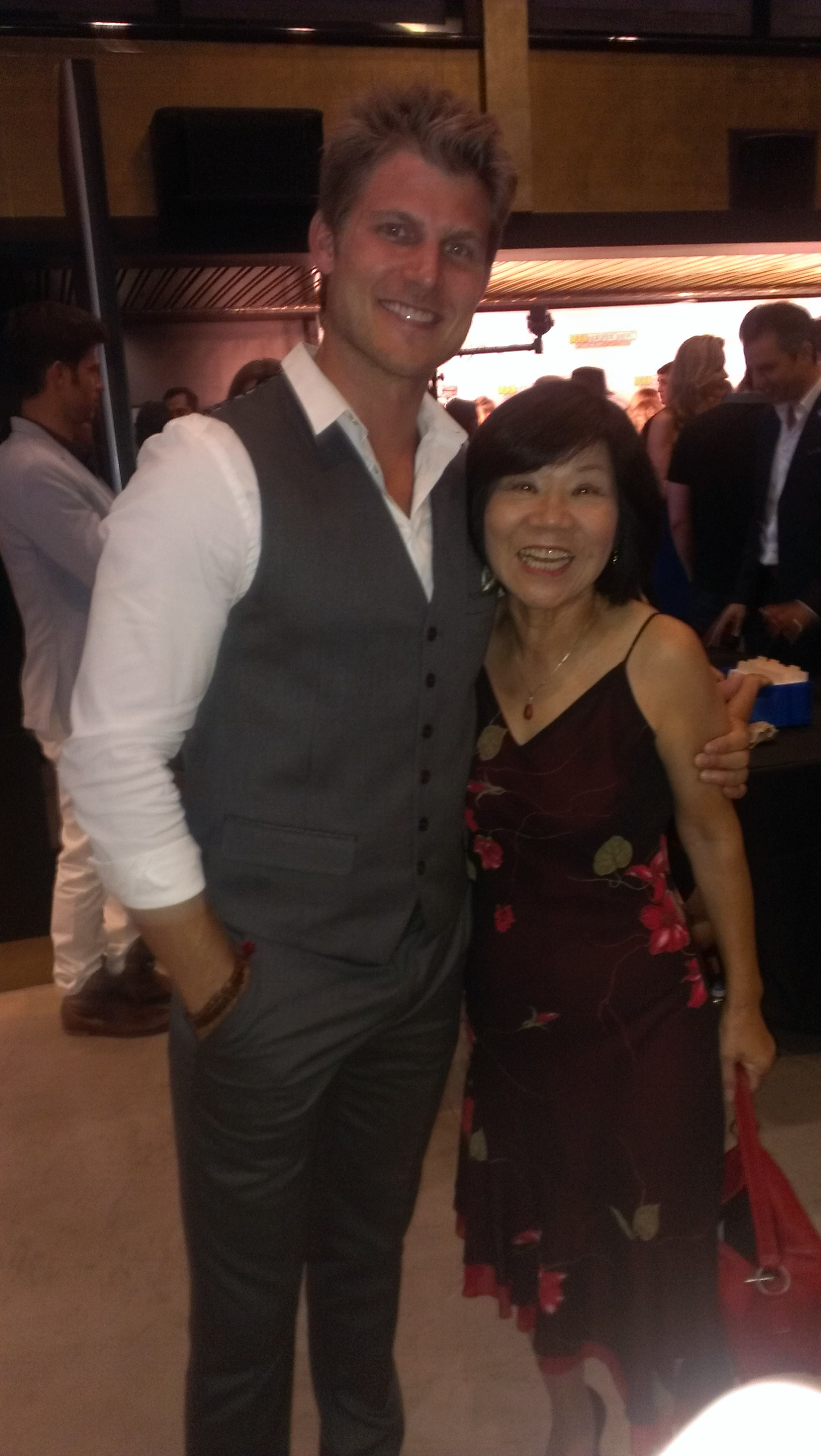 """Cici Lau with Trevis Van Winkle at Premier of """"Mantervention"""""""