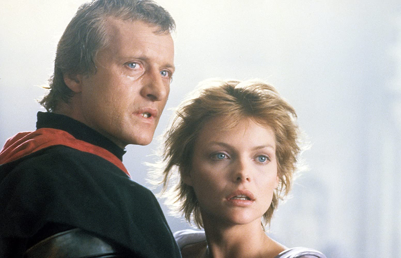 Michelle Pfeiffer and Rutger Hauer in Ladyhawke (1985)