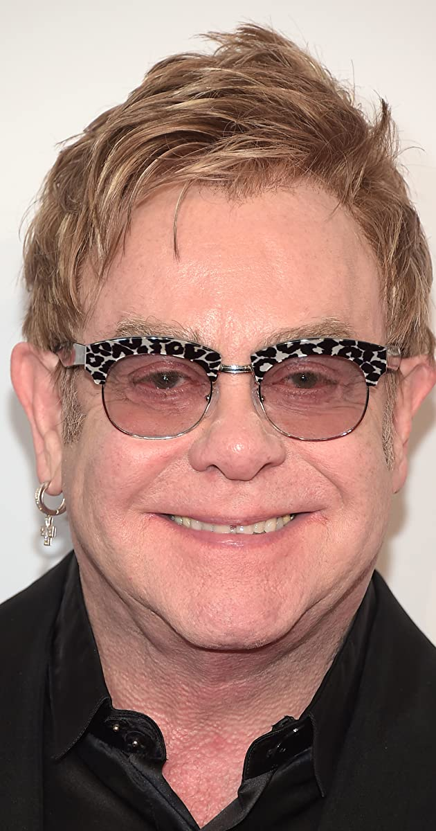 Elton John Live Awesome Early on Stage BW Poster