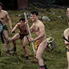 Andrew Bennett, Michael Legge, Peter McDonald, Hugh O'Conor, Andrew Scott, and Brian Gleeson in The Stag (2013)
