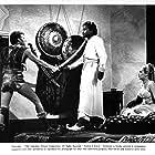 Sidney Poitier, Beba Loncar, and Russ Tamblyn in The Long Ships (1964)