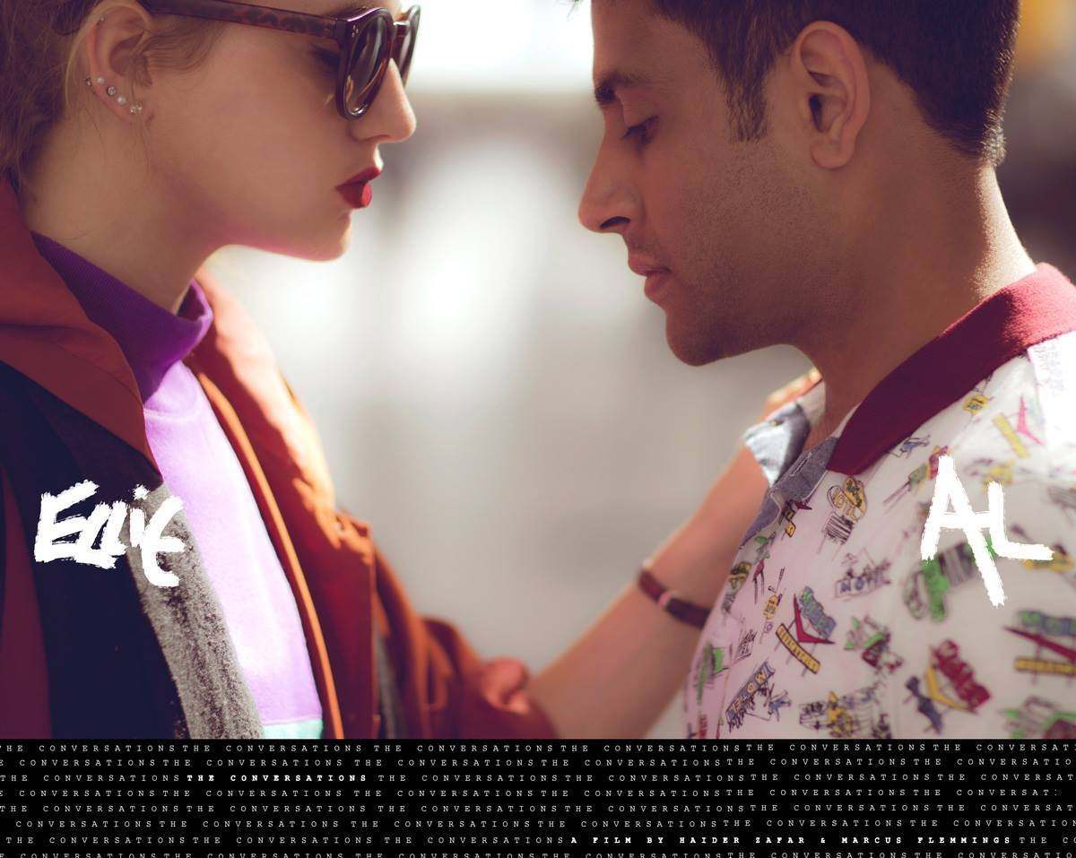 Haider Zafar and Daniella Down in The Conversations (2015)