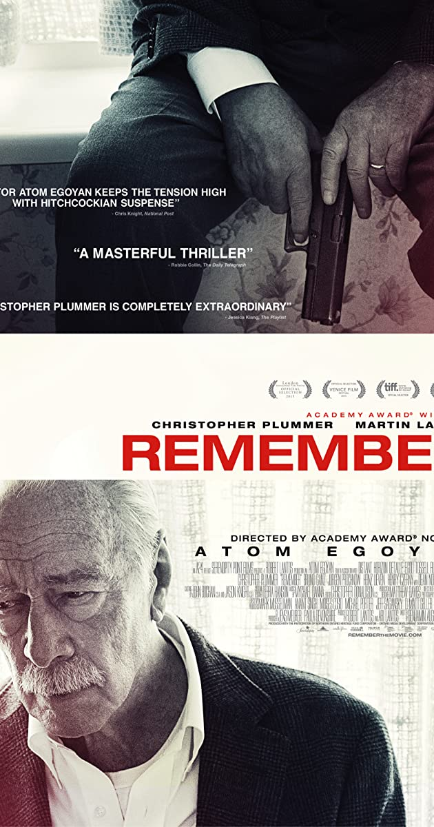 image poster from imdb - Remember (2015) • Movie