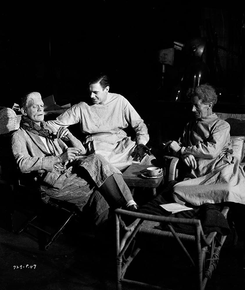 Boris Karloff, Colin Clive, and Ernest Thesiger in Bride of Frankenstein (1935)