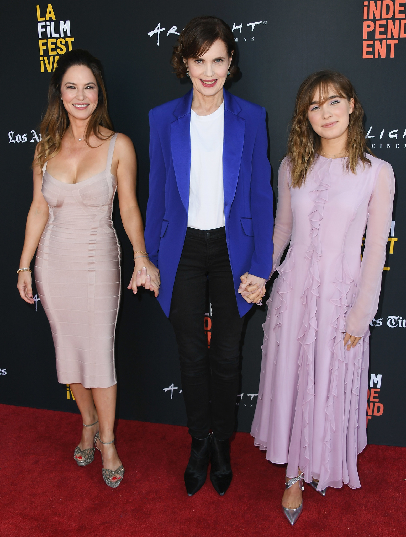 Elizabeth McGovern, Victoria Hill, and Haley Lu Richardson