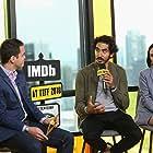 Dave Karger, Nazanin Boniadi, and Dev Patel at an event for Hotel Mumbai (2018)