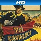 Randolph Scott and Barbara Hale in 7th Cavalry (1956)