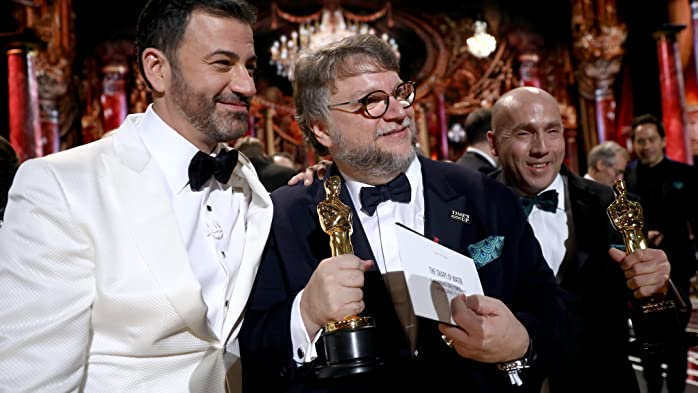 Jimmy Kimmel and Guillermo del Toro at an event for The Oscars (2018)
