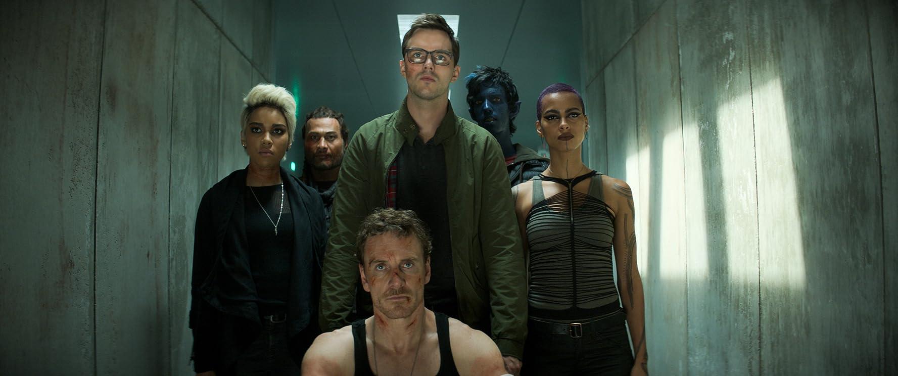 Nicholas Hoult, Michael Fassbender, Andrew Stehlin, Kodi Smit-McPhee, Alexandra Shipp, and Kota Eberhardt in Dark Phoenix (2019)