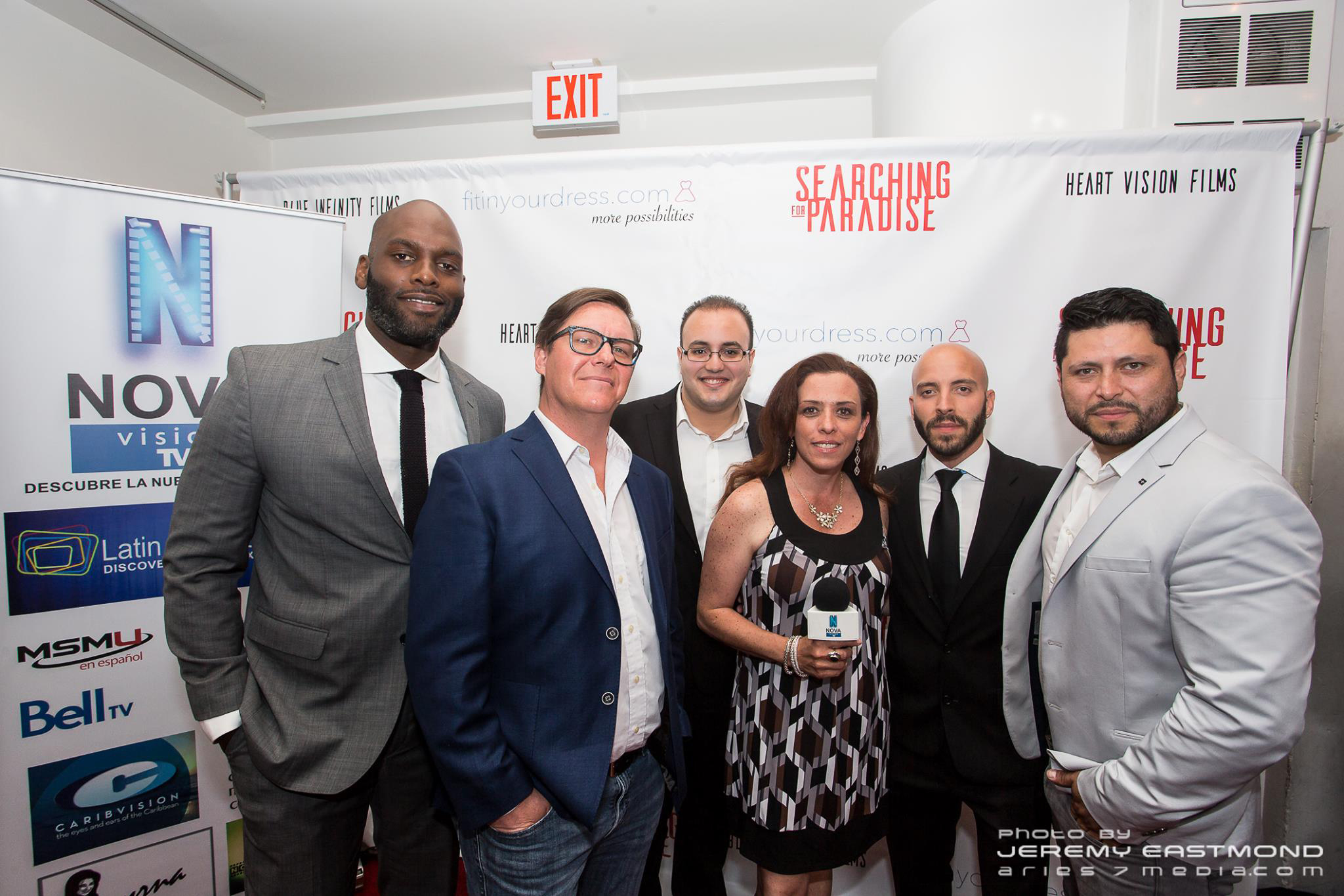 Red carpet at the Searching For Paradise press premiere in Toronto