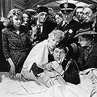 Betty Hutton, Eddie Bracken, Nora Cecil, William Demarest, Porter Hall, Diana Lynn, Victor Potel, and Julius Tannen in The Miracle of Morgan's Creek (1943)