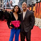 Naomie Harris and Dwayne Johnson at an event for Rampage (2018)