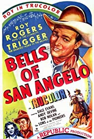 Roy Rogers, Andy Devine, Dale Evans, and Trigger in Bells of San Angelo (1947)