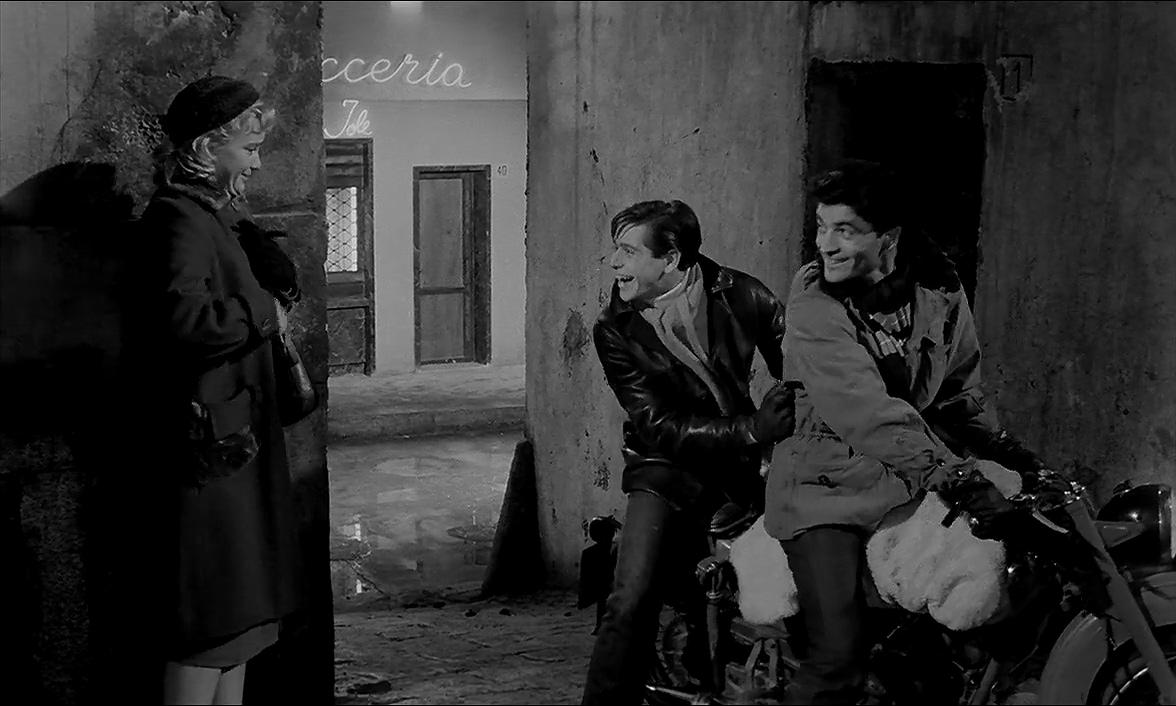 Corrado Pani and Maria Schell in Le notti bianche (1957)
