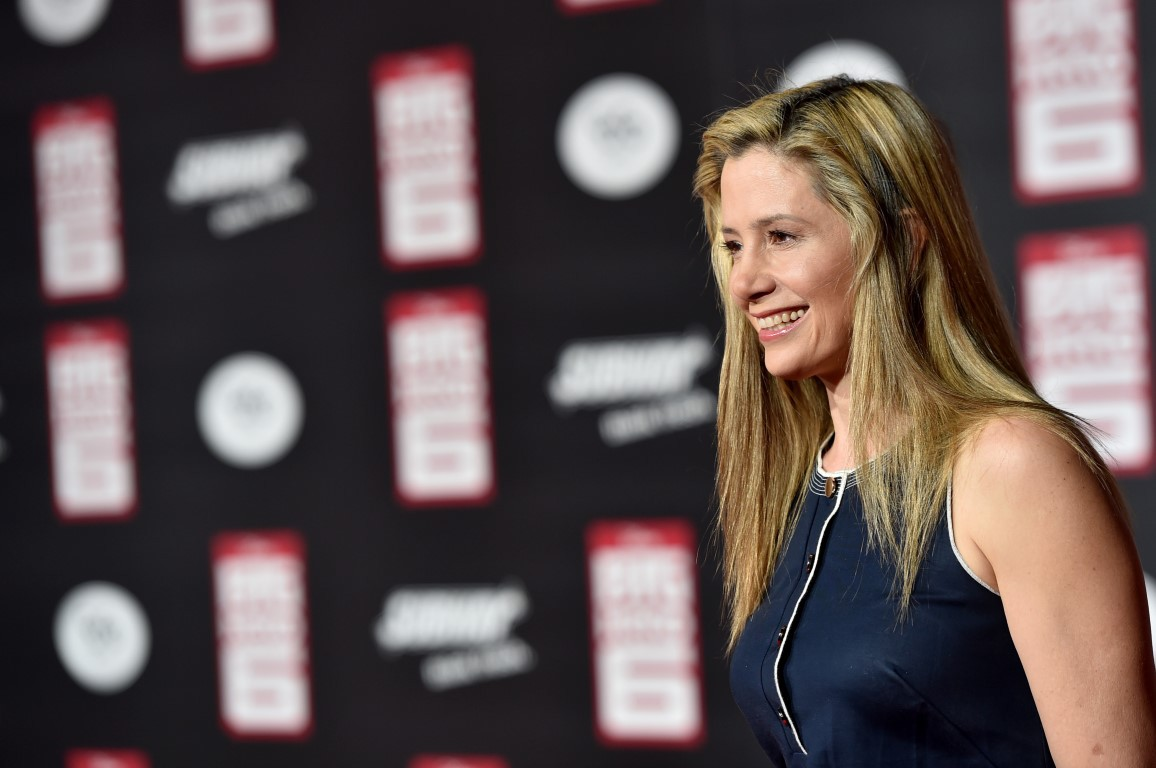 Mira Sorvino at an event for Big Hero 6 (2014)