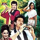 Madhuri Dixit and Anil Kapoor in Kishen Kanhaiya (1990)