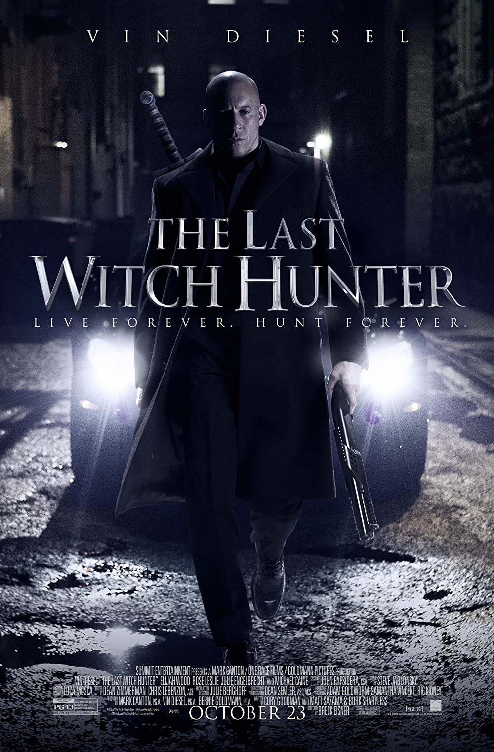 The Last Witch Hunter 2015 Dual Audio 1080p BluRay [Hindi ORG + English] ESubs