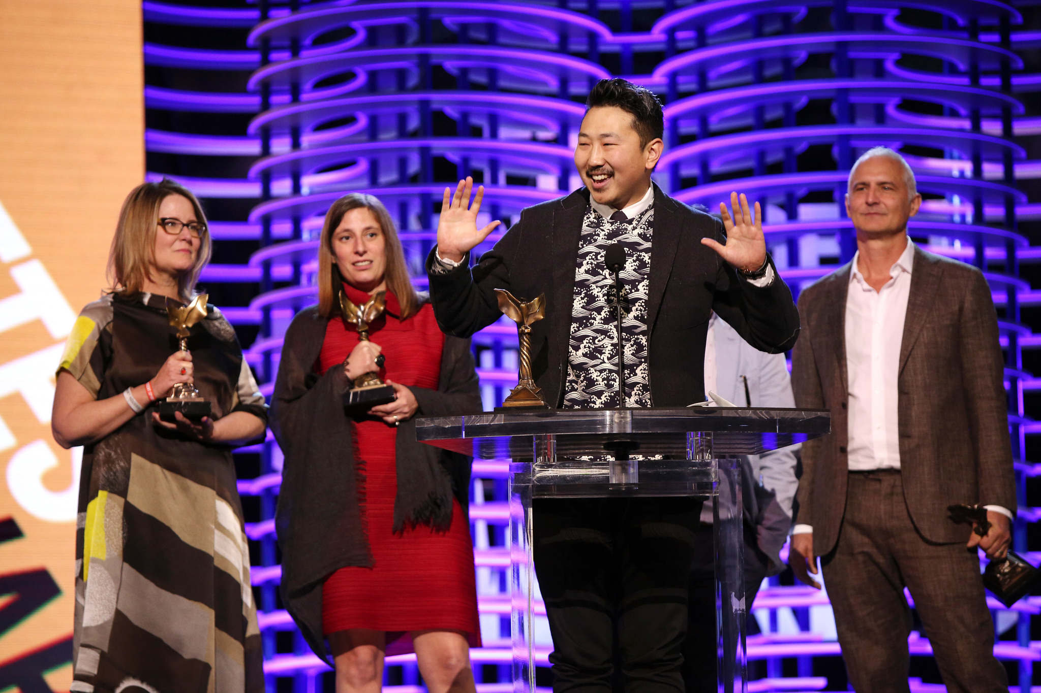 David Ariniello, Kelly Thomas, Andrew Ahn, and Giulia Caruso at an event for 32nd Film Independent Spirit Awards (2017)