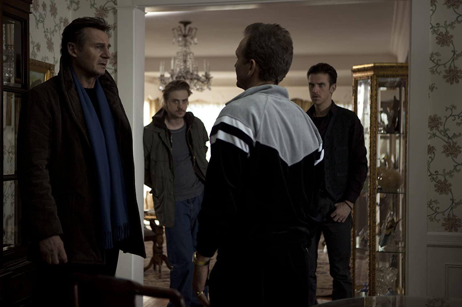 Liam Neeson, Dan Stevens, Eric Nelsen, and Boyd Holbrook in A Walk Among the Tombstones (2014)