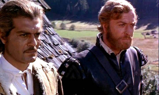 Michael Caine and Omar Sharif in The Last Valley (1971)