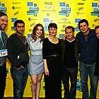 Ken Marino, Stephen Root, Jacob Vaughan, Adele Romanski, Gillian Jacobs, and Kumail Nanjiani at an event for Bad Milo! (2013)