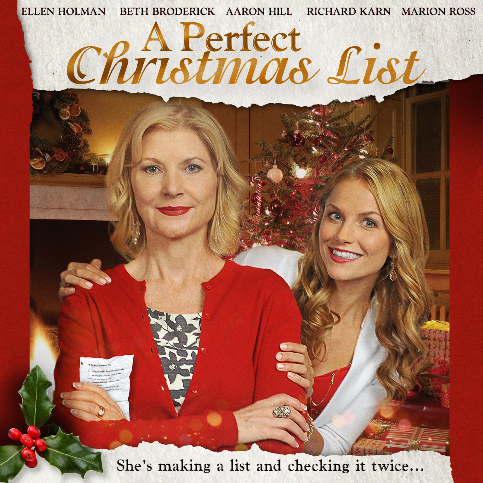 a perfect christmas list film cast