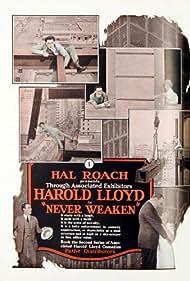 Roy Brooks, Mildred Davis, and Harold Lloyd in Never Weaken (1921)