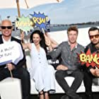 Aidan Gillen, Neal McDonough, Laura Mennell, and Michael Malarkey at an event for Project Blue Book (2019)