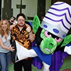 Tara Strong and Roger Jackson at an event for The Powerpuff Girls Movie (2002)