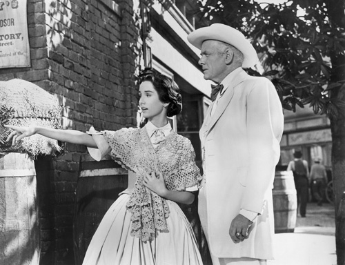 Charles Bickford and Maggie McNamara in Prince of Players (1955)