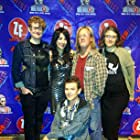 """Luciana Lagana and other winners of Zed Fest Film Festival """"Best Ensemble Cast"""" award at the premiere of """"Omadox"""" in Burbank, CA on 12/14/14."""