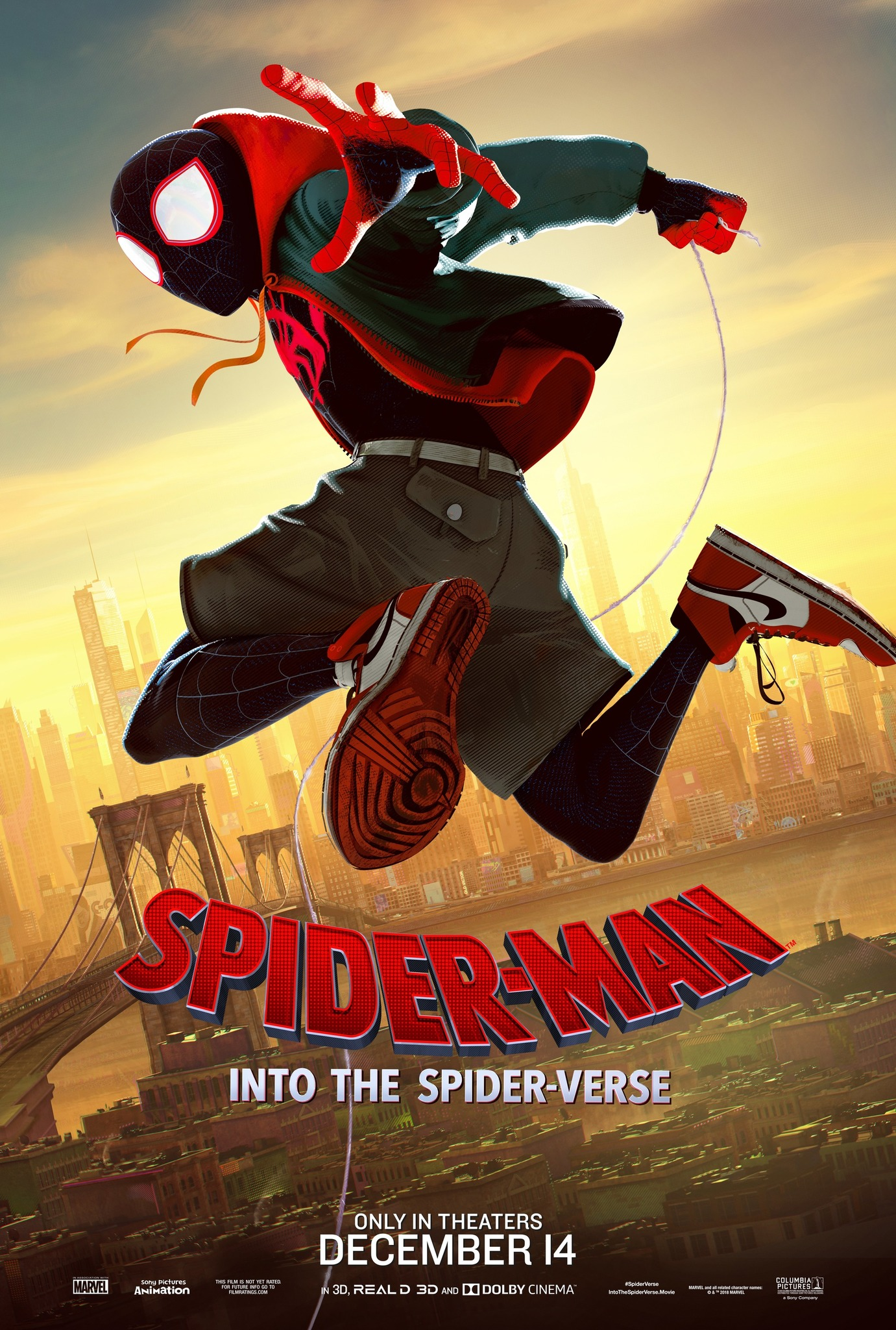 Image result for spider-man into the spider-verse poster
