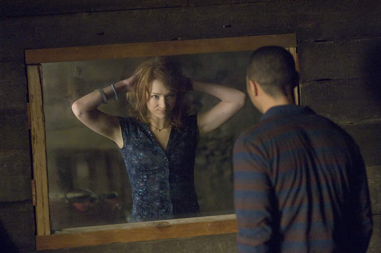 Jesse Williams and Kristen Connolly in The Cabin in the Woods (2011)
