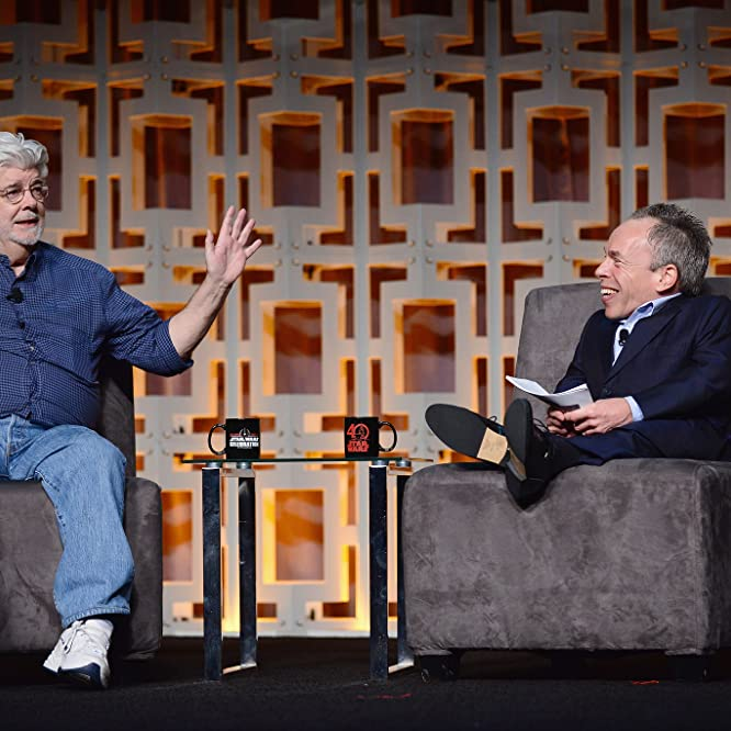 George Lucas and Warwick Davis