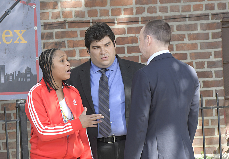 Donnie Wahlberg, Felicia Pearson, and Michael Barra in Blue Bloods (2010)