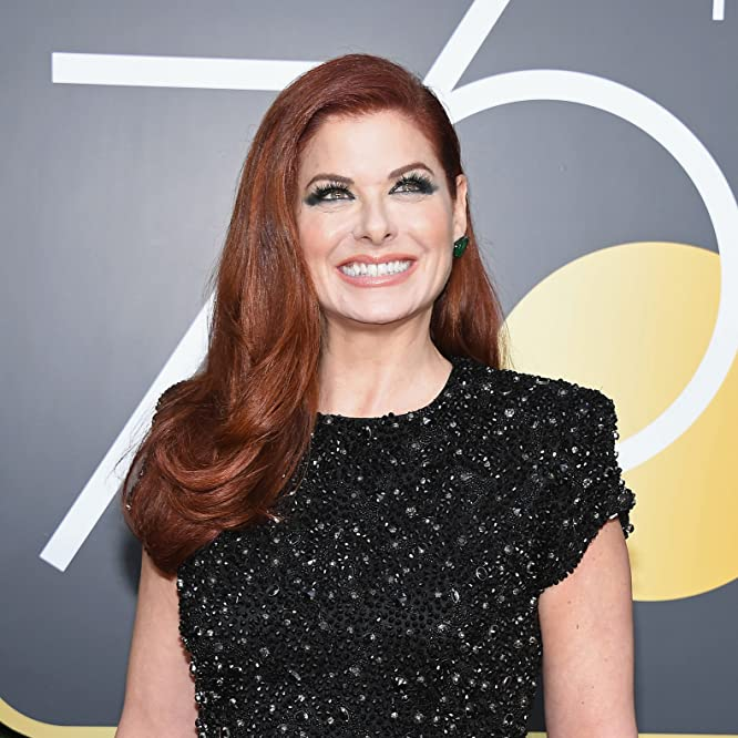 Debra Messing at an event for 75th Golden Globe Awards (2018)