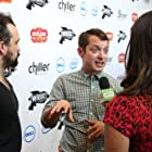 Elijah Wood and Nacho Vigalondo at an event for Open Windows (2014)