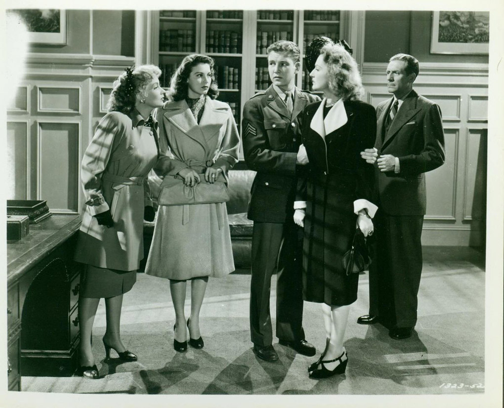 Ava Gardner, Paul Cavanagh, Tom Drake, and Ann Sothern in Maisie Goes to Reno (1944)
