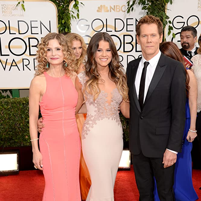 Kevin Bacon, Kyra Sedgwick, and Sosie Bacon at an event for 71st Golden Globe Awards (2014)