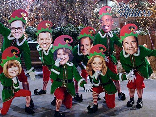 Beau Bridges, Will Arnett, Sean Hayes, Margo Martindale, J.B. Smoove, Jayma Mays, Nelson Franklin, and Lulu Wilson in The Millers (2013)