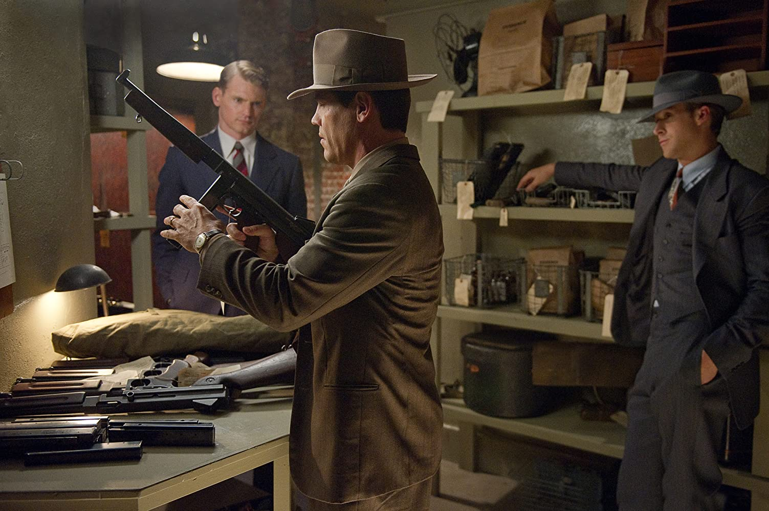 Josh Brolin, Ryan Gosling, and Josh Pence in Gangster Squad (2013)
