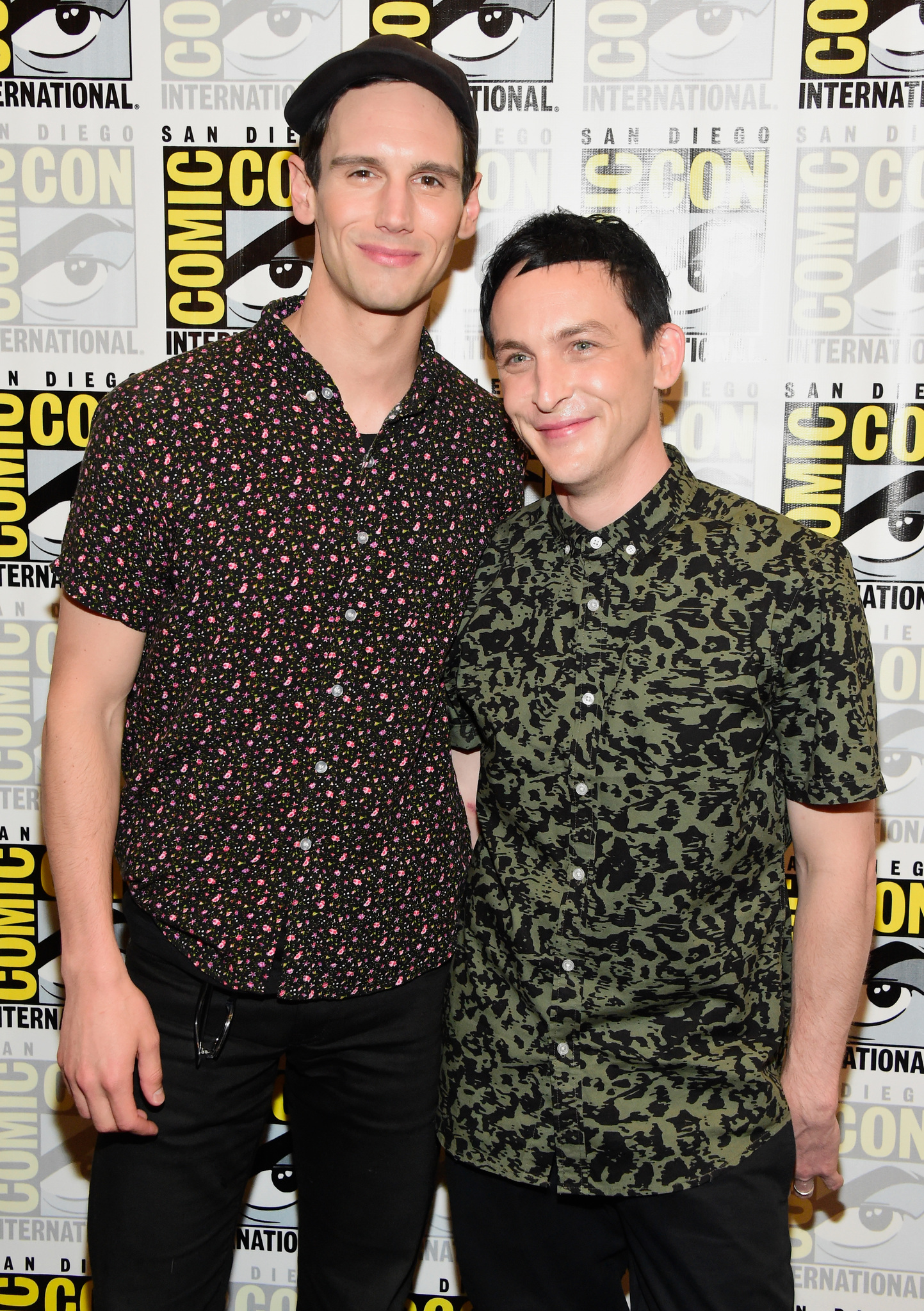 Robin Lord Taylor and Cory Michael Smith at an event for Gotham (2014)