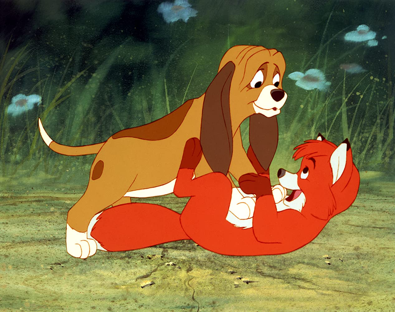 Corey Feldman and Keith Coogan in The Fox and the Hound (1981) Disney Studios