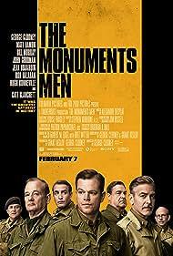 George Clooney, Bill Murray, Matt Damon, John Goodman, Bob Balaban, Hugh Bonneville, and Jean Dujardin in The Monuments Men (2014)