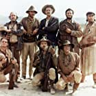 Strother Martin, Paul Harper, Bill Hart, L.Q. Jones, and Robert Ryan in The Wild Bunch (1969)