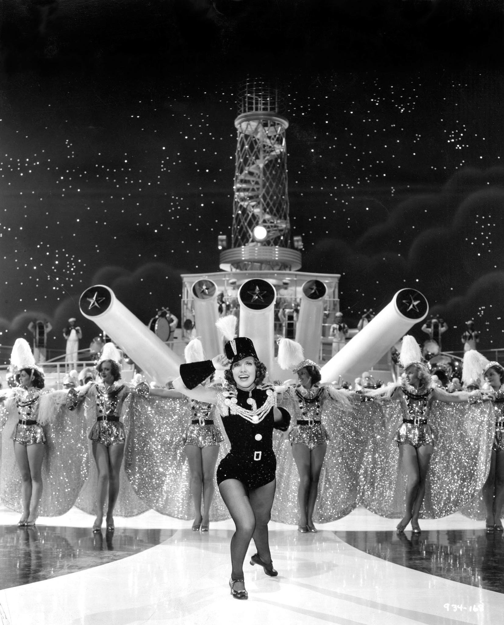 Eleanor Powell, Midgie Dare, Doris Davenport, Mary Dees, Edna Mae Jones, Vivian Faulkner, and Wilma Holly in Born to Dance (1936)