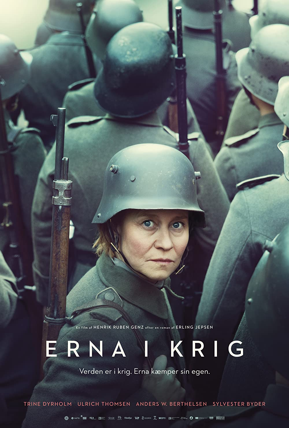 Erna i krig: Directed by Henrik Ruben Genz. With Ulrich Thomsen, Trine Dyrholm, Anders W. Berthelsen, Ari Alexander. A woman disguises herself as a man to join the army in order to protect her educationally subnormal son who has been called up to...
