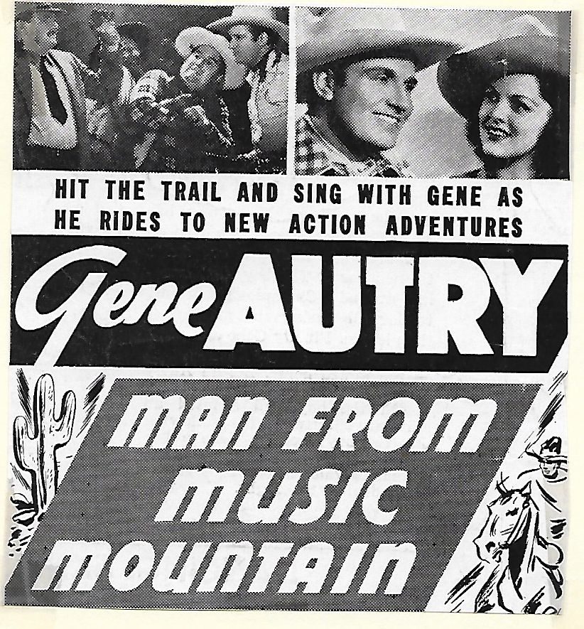 Gene Autry, Smiley Burnette, Ed Cassidy, and Carol Hughes in Man from Music Mountain (1938)