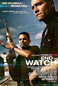 Jake Gyllenhaal and Michael Peña in End of Watch (2012)